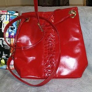 Jafferjee's leather red bag